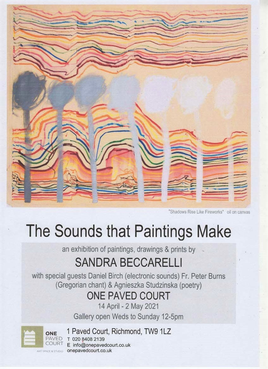 """""""The Sounds that Paintings Make""""  at One Paved Court, Richmond Upon Thames"""